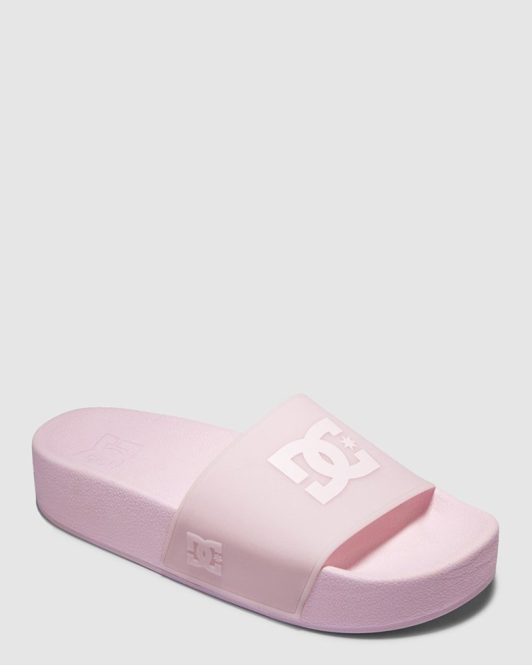 DC Shoes Womens Platform Slides Slippers & Accessories BARELY PINK