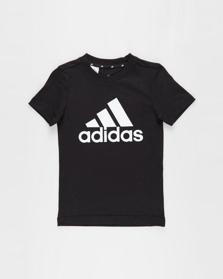 adidas Performance Must Haves Badge of Sport T Shirt Kids Teens T-Shirts & Singlets Black White T-Shirt Kids-Teens