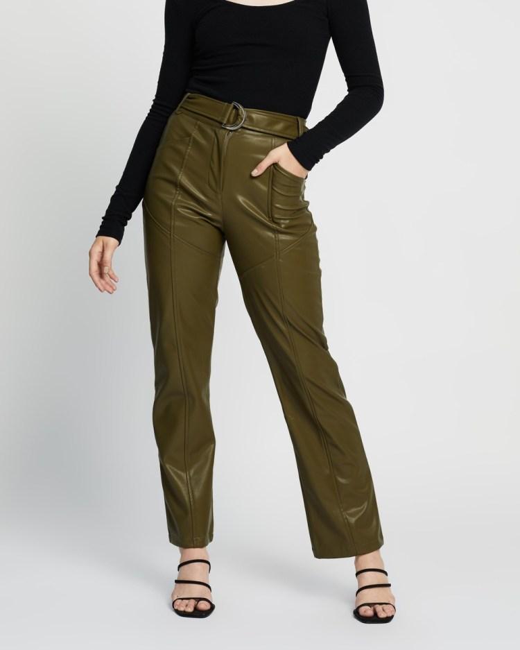 4th & Reckless Tori Trousers Pants Khaki PU