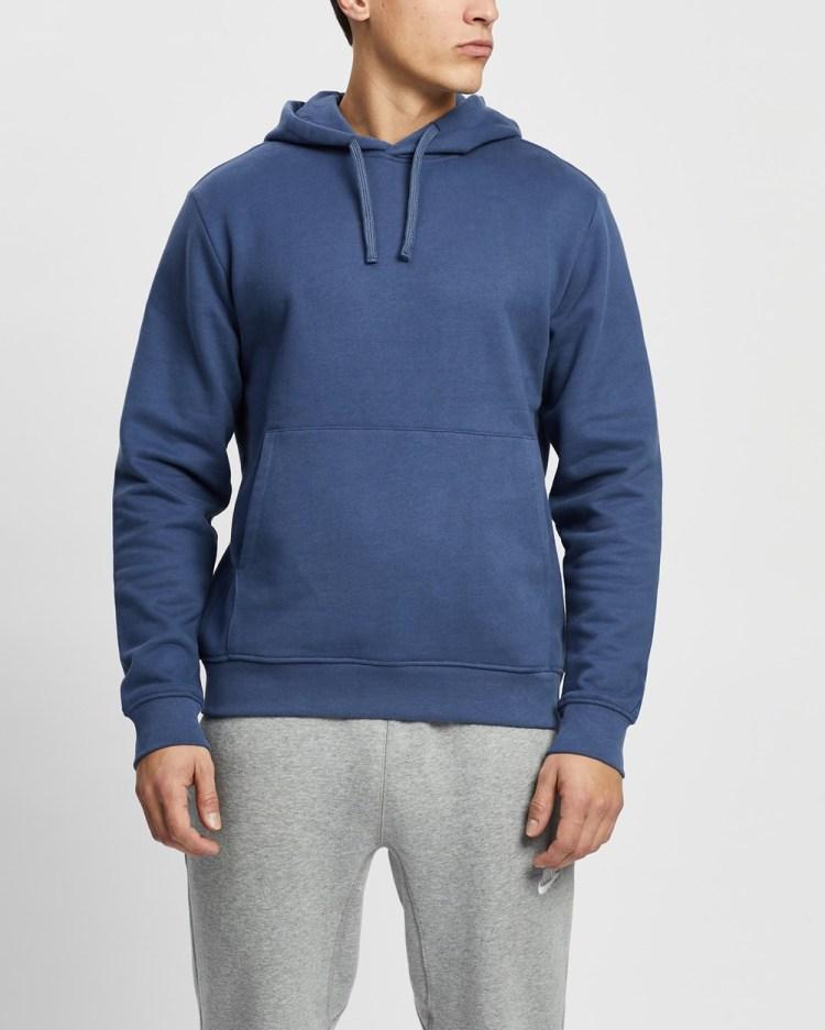 AERE Organic Cotton Hoodie Hoodies Navy