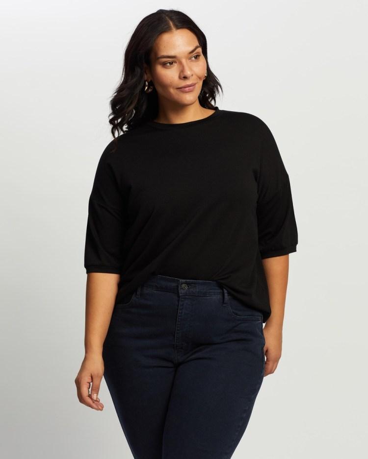 Atmos&Here Curvy Ann Relaxed Tee T-Shirts & Singlets Black