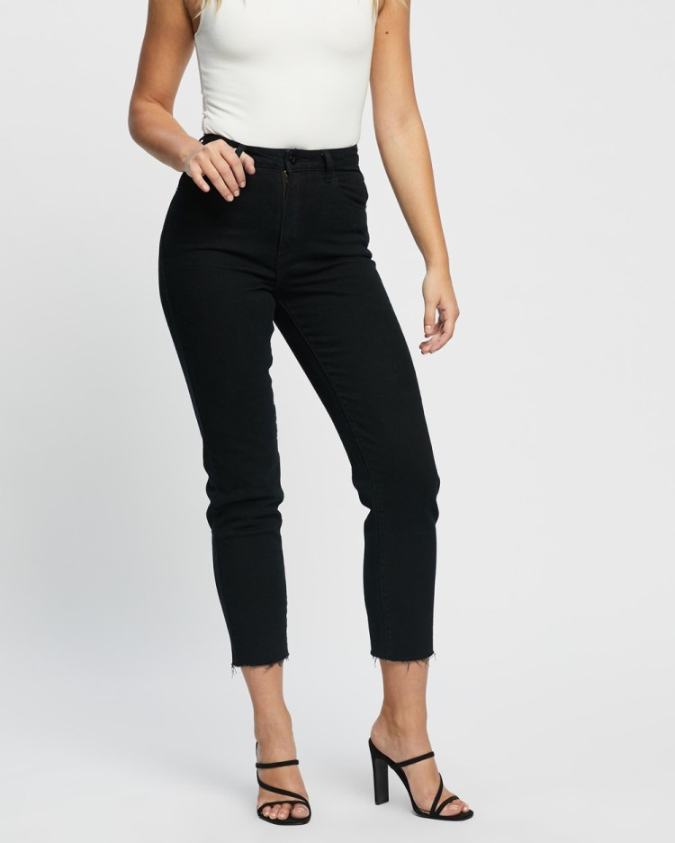 Abrand A '94 High Slim Jeans Crop Dead of Night
