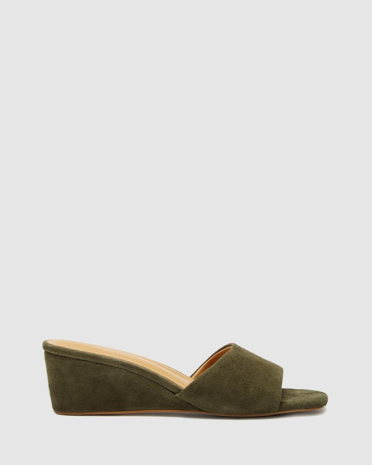 LMS The Hannah Mid-low heels Olive Green