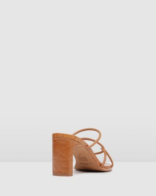 Jo Mercer Novi Mid Heel Sandals Tan