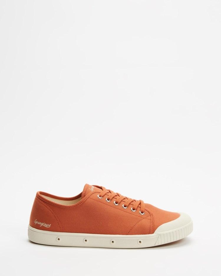Spring Court G2 Organic Canvas Men's Sneakers Ochre