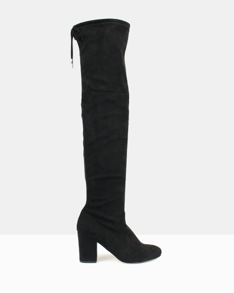 Betts Bold 2 Over The Knee Boots Mid-low heels Black Over-The-Knee