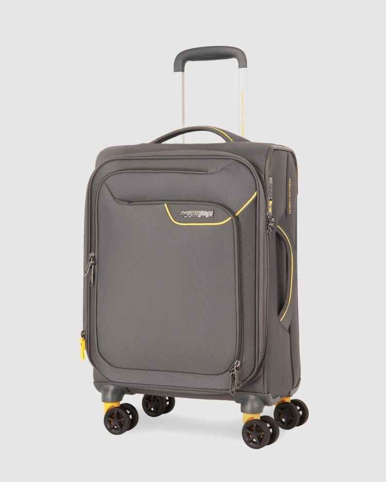American Tourister Applite 4Security Spinner 55 20 EXP TSA Travel and Luggage Lightning Grey 55-20