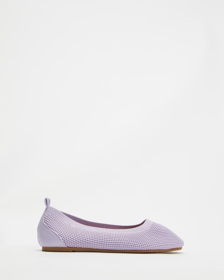 Cotton On Kids Knitted Ballet Flats Vintage Lilac