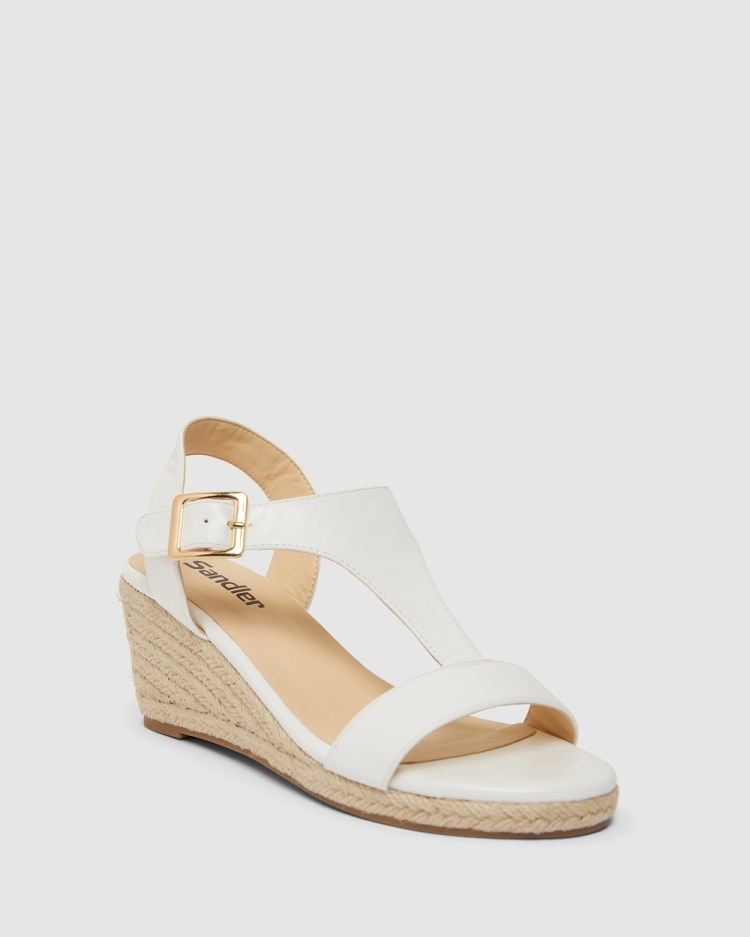 Sandler Anchor Heels White