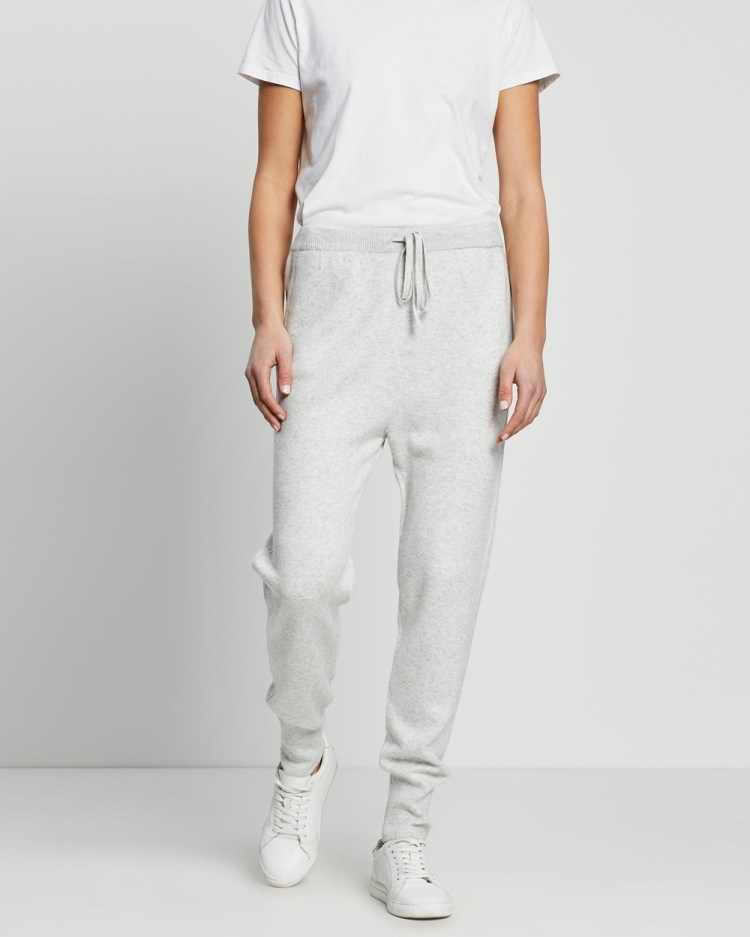 David Lawrence Kendra Knitted Jogger All thongs SILVER