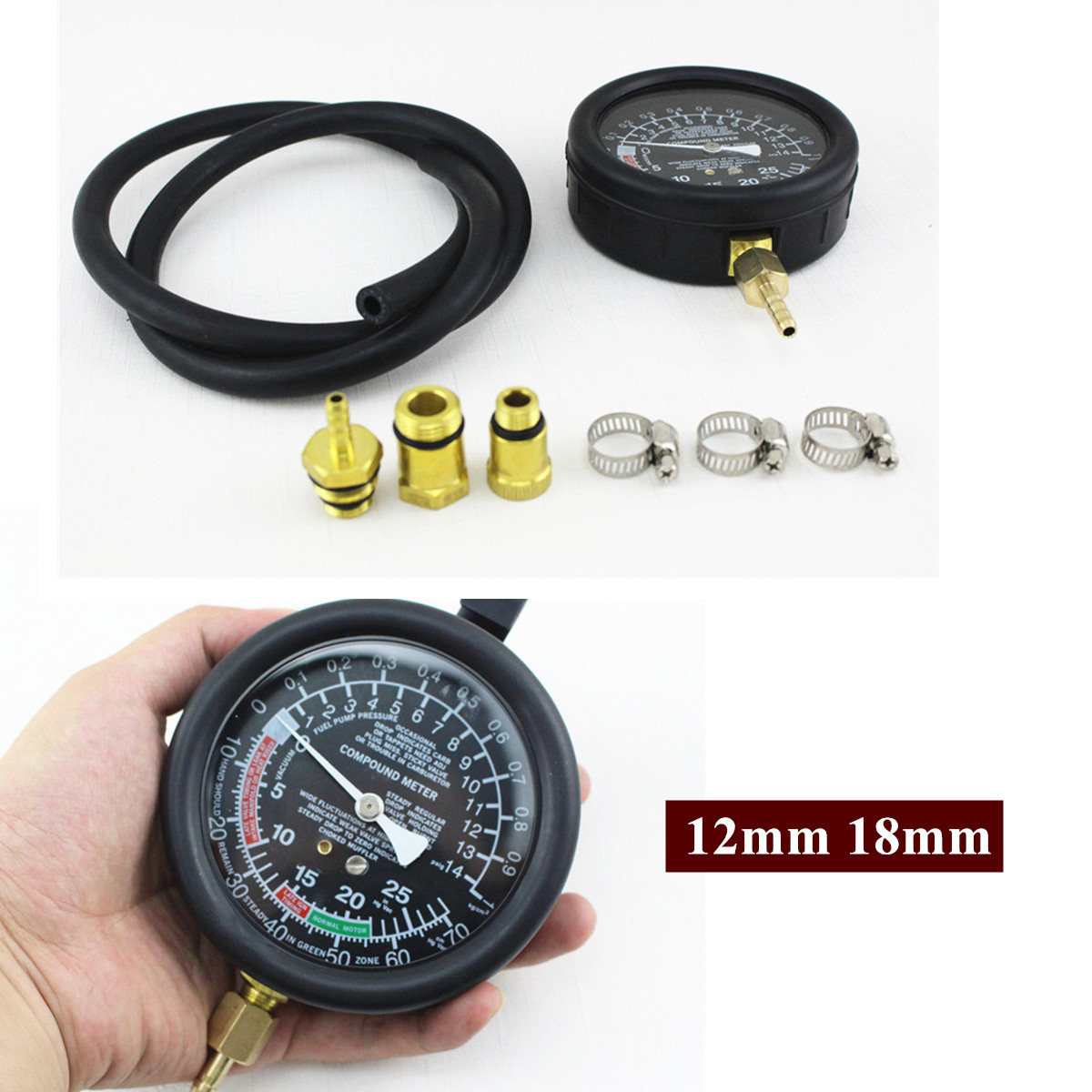 car auto exhaust back pressure tester