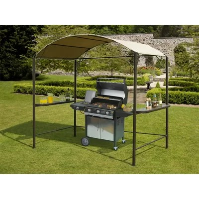Aosom Outsunny Grill 7 Ft. W x 4 Ft. D Steel Gazebo ... on Suntime Outdoor Living  id=53784