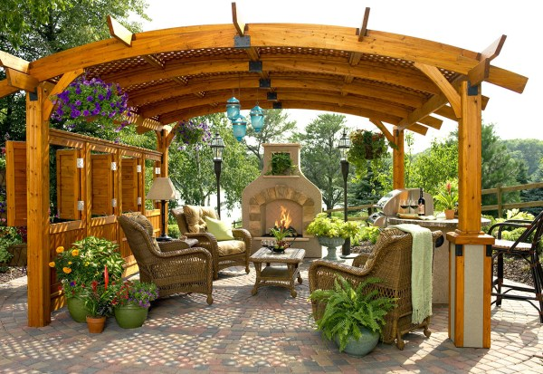 outdoor living patio ideas 1000+ images about Garden fireplaces and fire pits