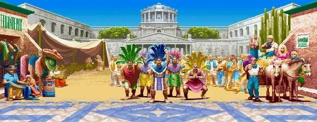 El escenario de T. Hawk tenía estereotipos y referencias a la cultura mexicana por igual
