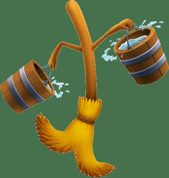 Disney Fantasia Mop Cartoon