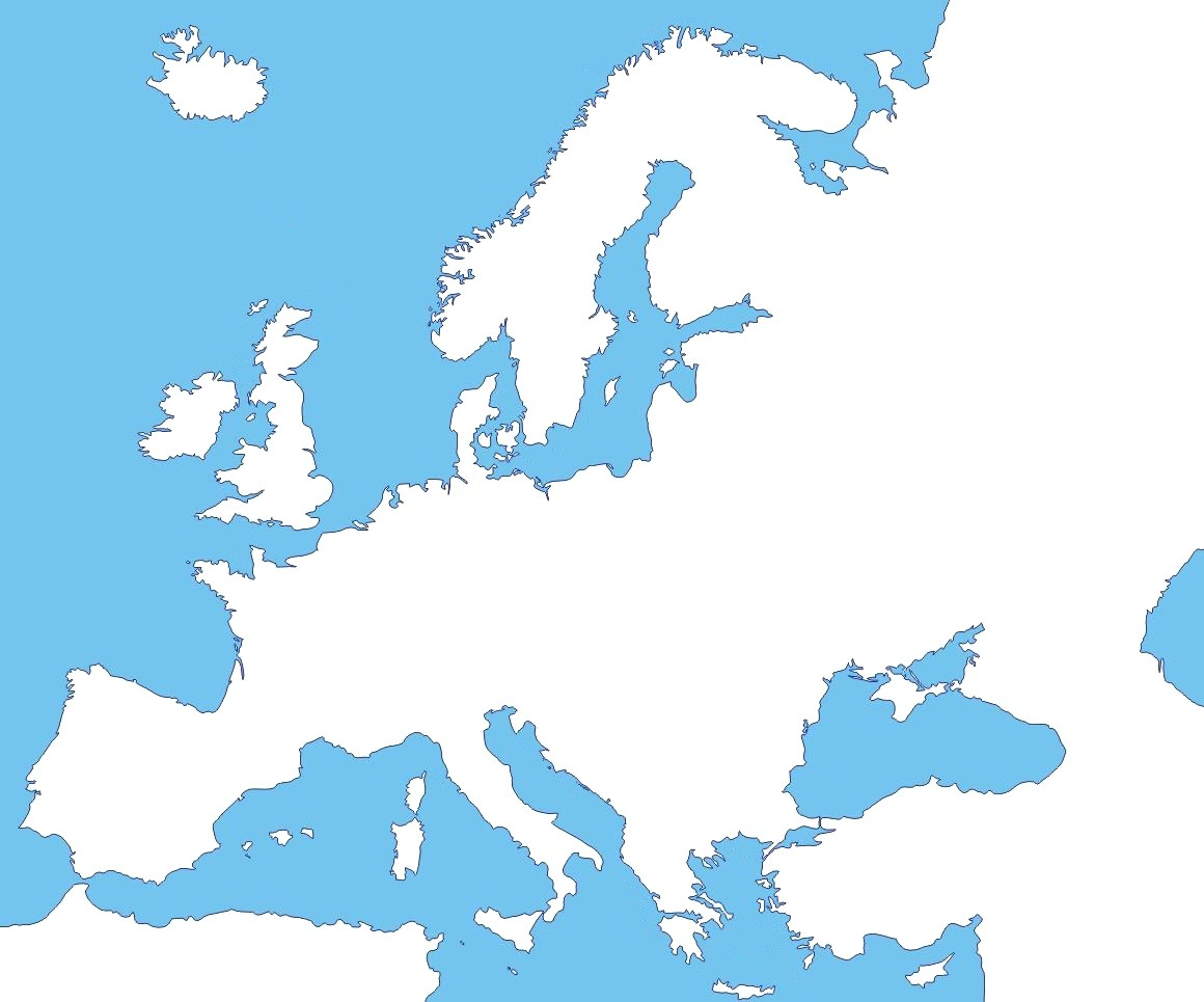 Blank Map Of Europe No Borders