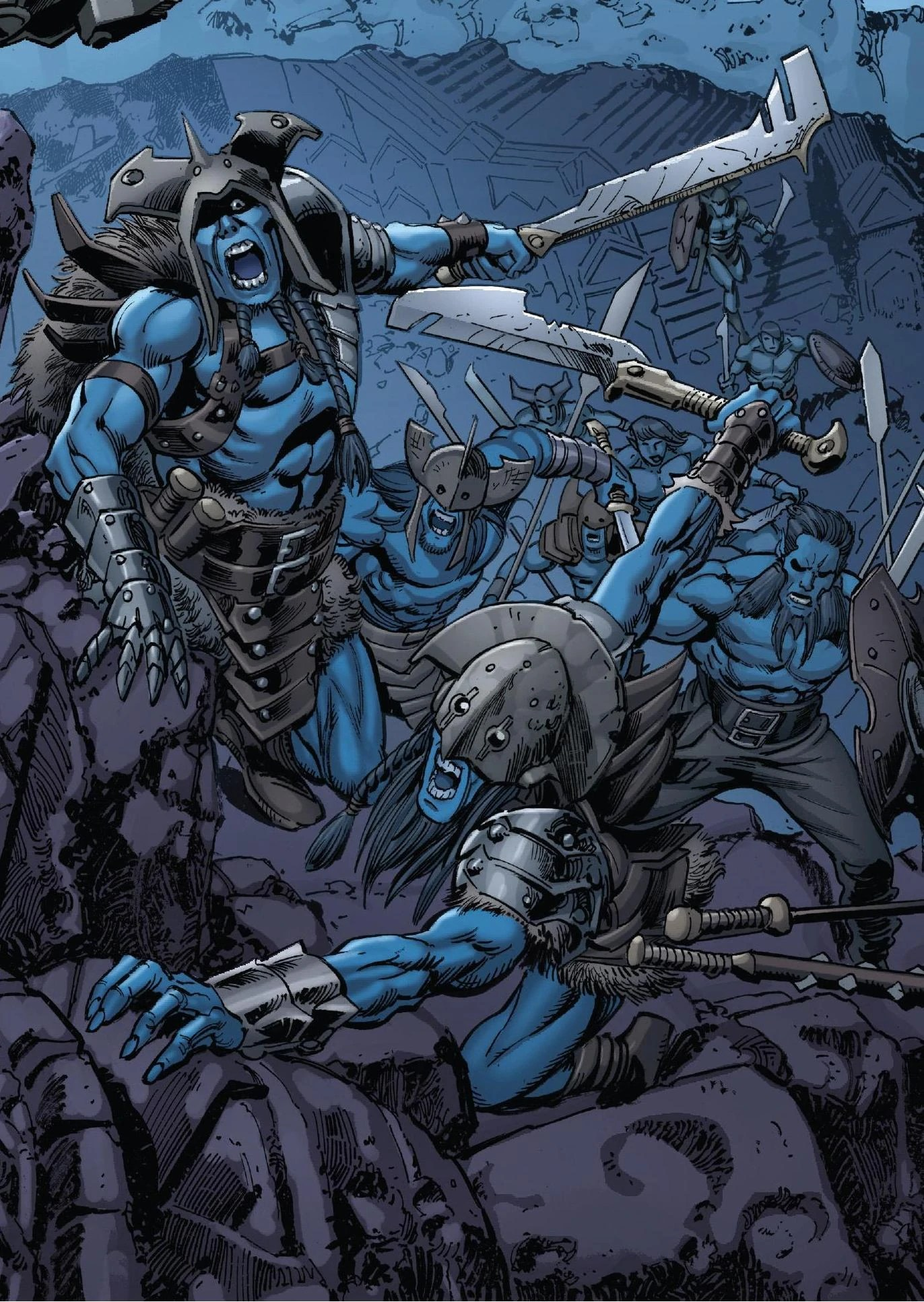 Marvel Comics Tends To Give Their Dark Elves Blue Skin Rather Than Pitch Black Although They Were Apparently Caucasian In Earliest Appearances