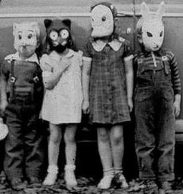 Vintage-halloween-masks-children