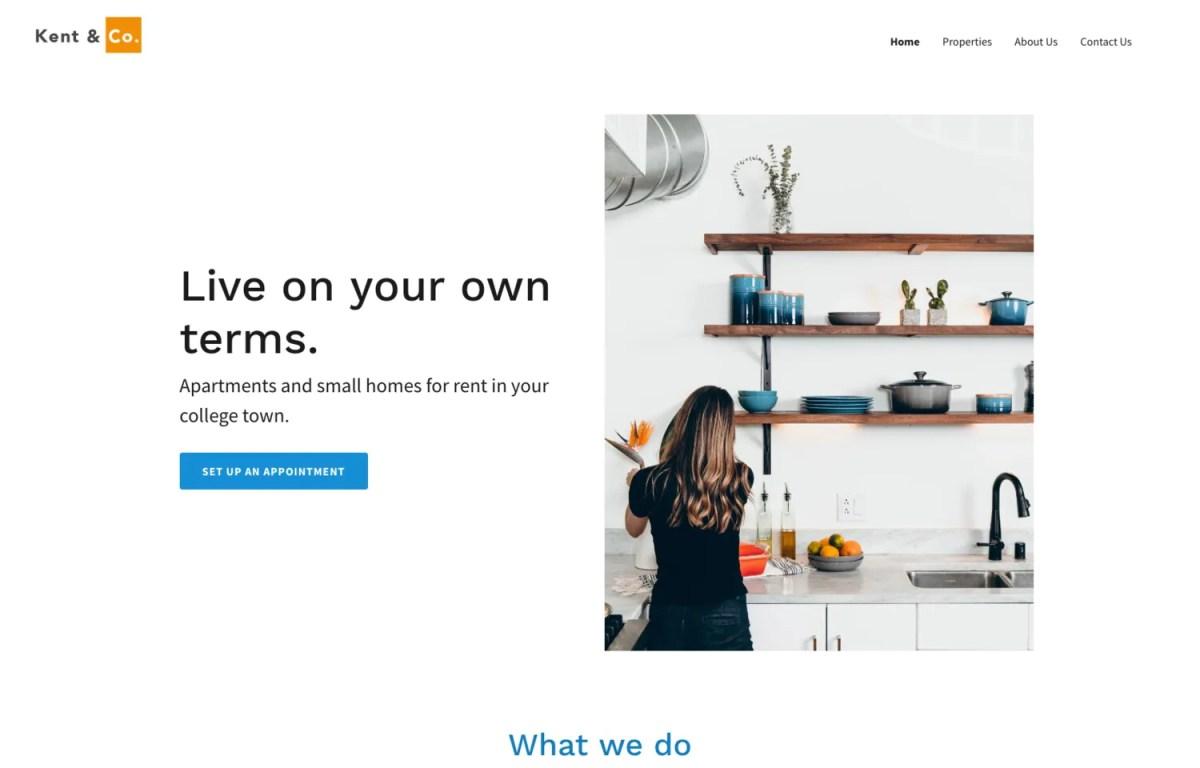 Real estate website templates for build yourself website