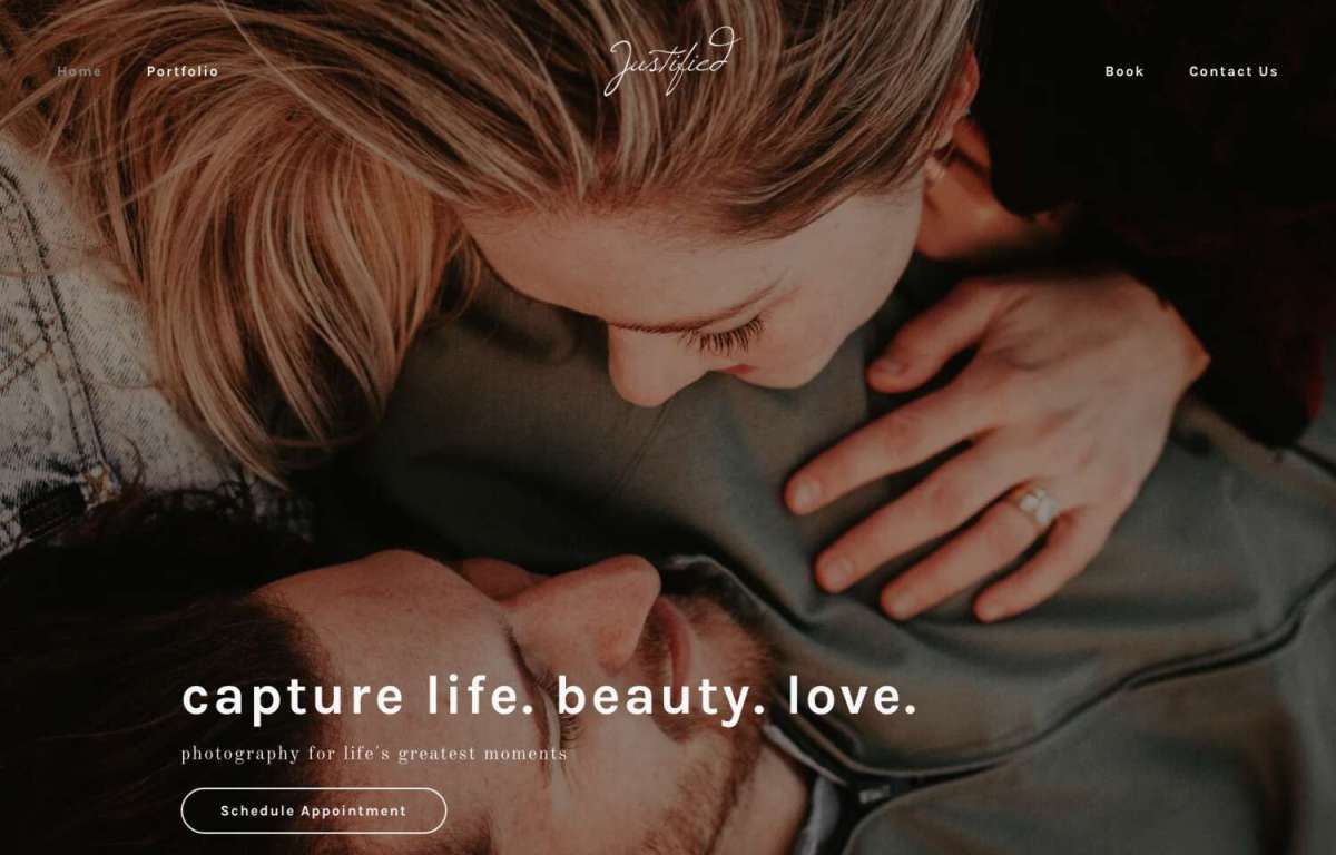 Photography website templates for build it yourself websites