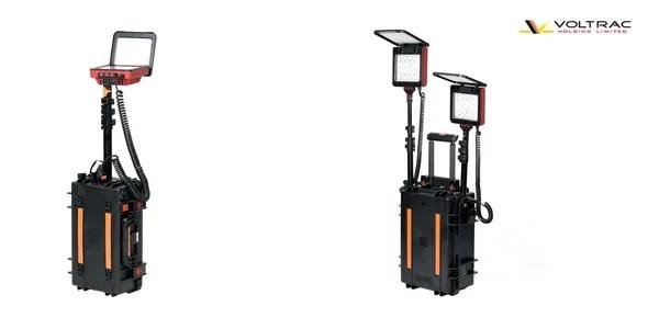 led portable lighting voltrac holding
