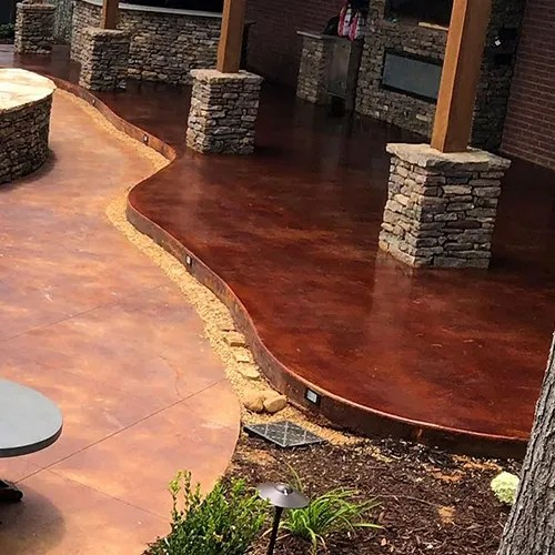 how to stain your concrete patio properly