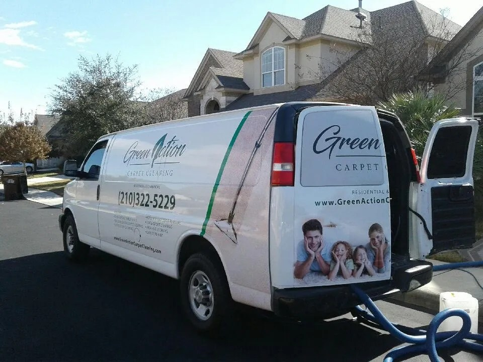 green action carpet cleaning carpet