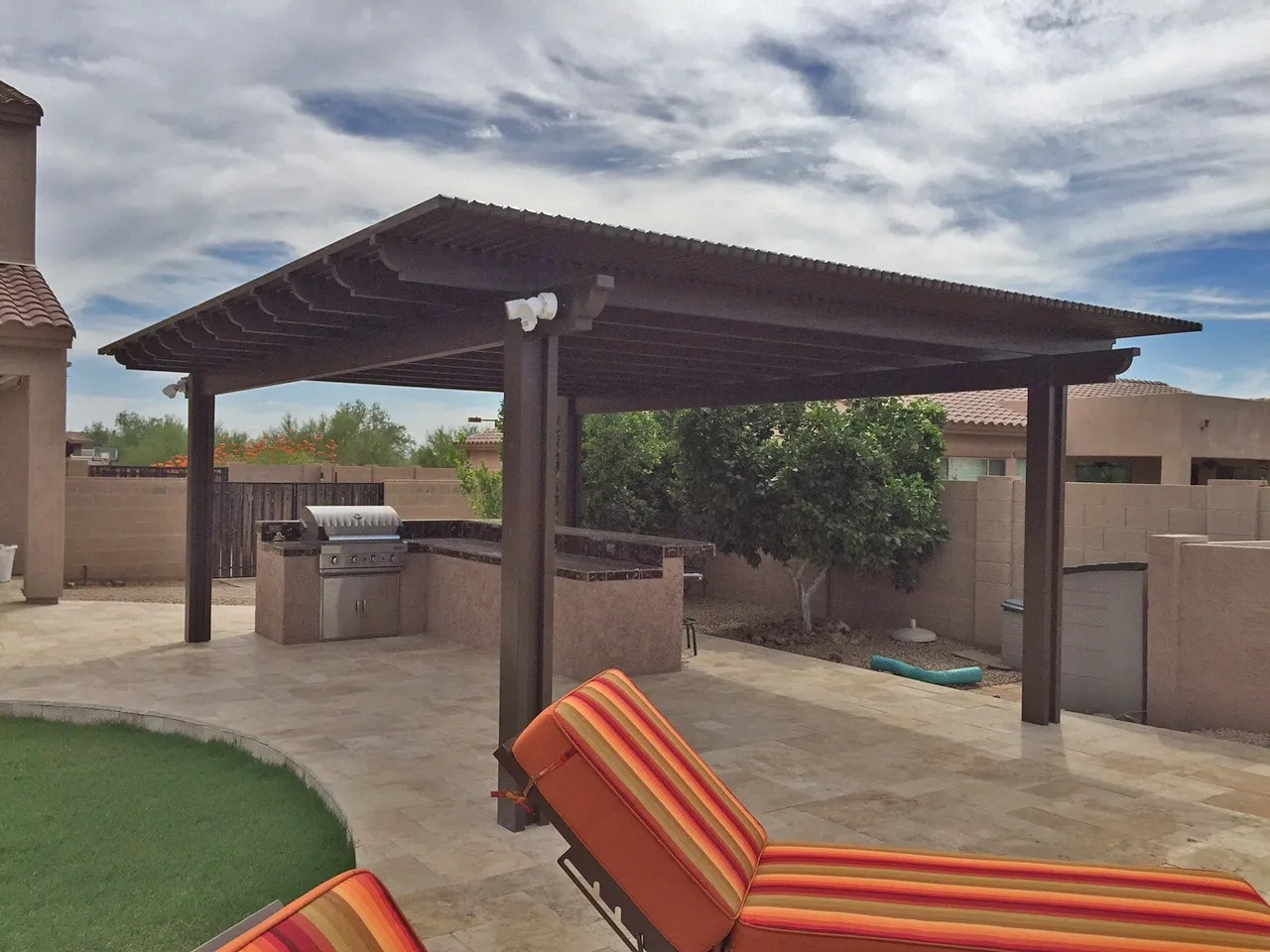 solid or lattice for your patio cover