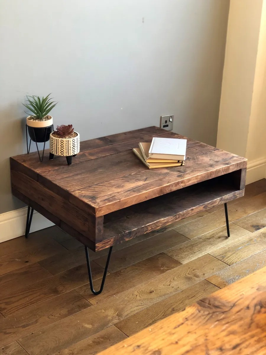 industrial reclaimed coffee table with