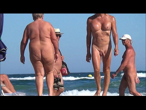 tranny erection on the beach