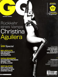 Christina Aguilera posing naked on cover of GQ Germany Magazine - Hot Celebs Home