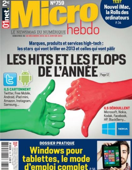 Micro Hebdo 758 - 20 Décembre 2012 au 2 Janvier 2013