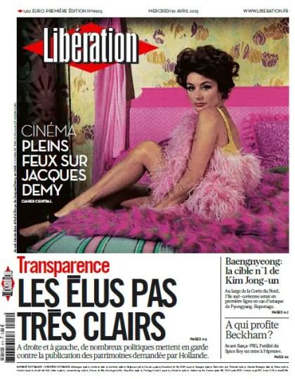 Libération Mercredi 10 Avril 2013