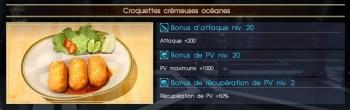 Final Fantasy XV croquettes crémeuses océane