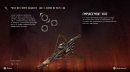 Horizon Zero Dawn armes spéciales
