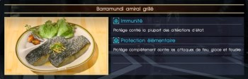 Final Fantasy XV barramundi amiral grillé