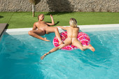 MetArt – Casey & Leaya – Girl's Pool Day