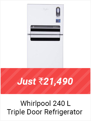 Whirlpool 240 L Triple Door refrigerator - Just Rs.21,490 +Exchange-Upto Rs.3,000 off
