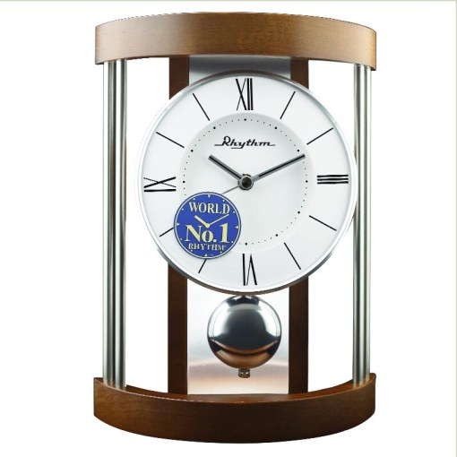 Lisheng  RHYTHM  Original imported clocks living room bedroom porch     Lisheng  RHYTHM  Original imported clocks living room bedroom porch solid  wood home clock creative simple decorative table clock retro Chinese style