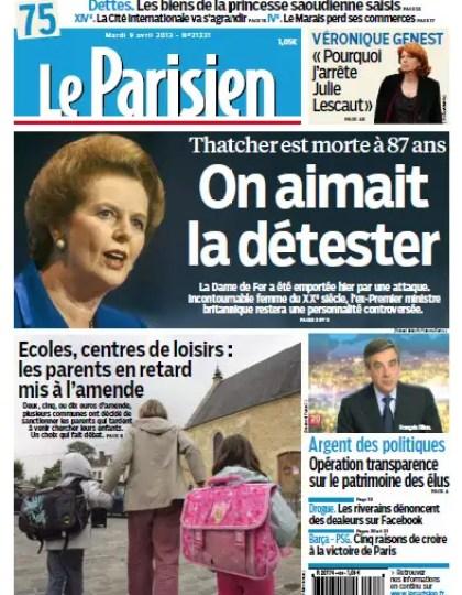 Le Parisien Mardi 9 Avril 2013