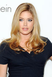 Doutzen Kroes leggy in short black dress at Women's Fall 2010 Calvin Klein Collection After Party - Hot Celebs Home