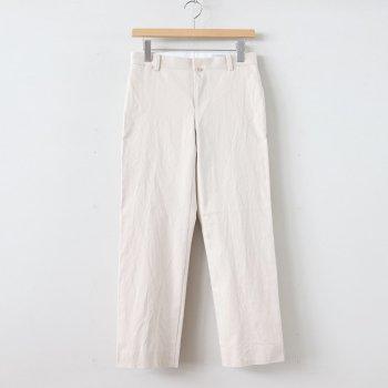 CHINO CLOTH PANTS PIPED STEM #BEIGE [69651] _ YAECA   ヤエカ