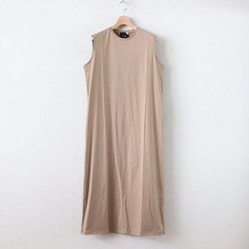 SUVIN 60/2 TANK-TOP DRESS #BEIGE [OPAGBM0013] _ ATON   エイトン
