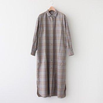 OPEN-FRONT DRESS #PURPLE CHECK [L2002-DR001] _ LENO | リノ