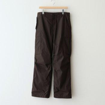 HIGH COUNT LIGHT NYLON FATIGUE PANTS #DARK BROWN [A21SP02NL] _ AURALEE   オーラリー
