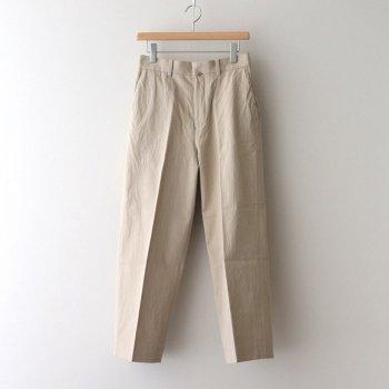 CHINO CLOTH PANTS CREASED #BEIGE [61602] _ YAECA | ヤエカ