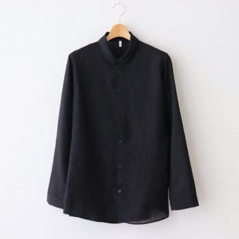 FCVSH   スラブトリアセテート・ガーゼ スモールカラーワイドシャツ #BLACK [AR_FR011SF] _ FIRMUM   フィルマム