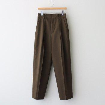 WOOL GABARDINE TAPERED PANTS #C/035 KHAKI [PRAGIW0705] _ ATON | エイトン