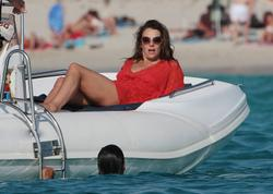 Elizabeth Hurley relaxing on Valentino's luxury yacht in Ibiza -  Hot Celebs Home