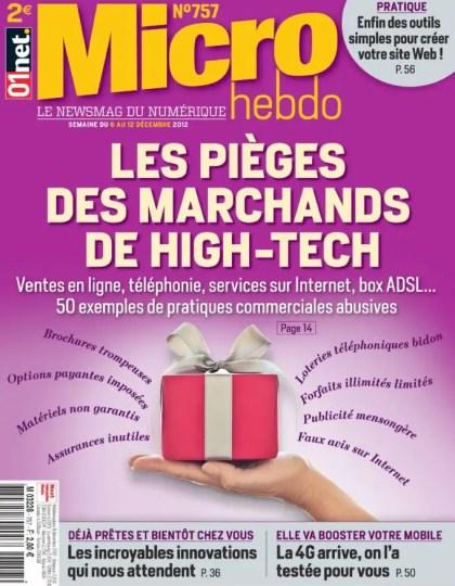 Micro Hebdo N°757 du 06 au 12 Décembre 2012